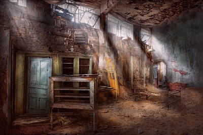 Jail - Eastern State Penitentiary - Sick Bay Print by Mike Savad