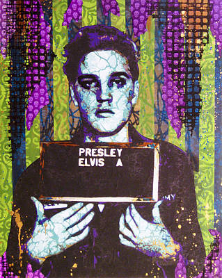Stencil Art Painting - Jailhouse Rock by Bobby Zeik
