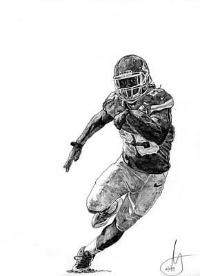 Kansas City Drawing - Jamaal Charles by Joshua Sooter