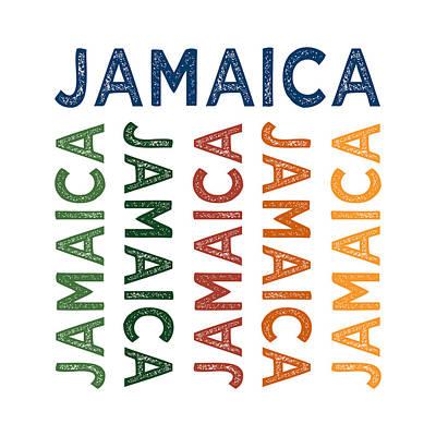 Jamaican Digital Art - Jamaica Cute Colorful by Flo Karp