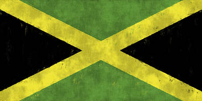 Jamaican Digital Art - Jamaica Flag by World Art Prints And Designs