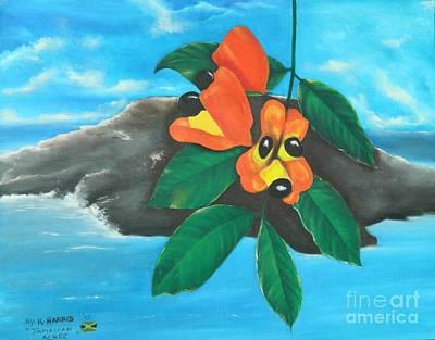 Jamaican Art Painting - Jamaica National Fruit by Kenneth Harris