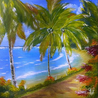 Caribbean Painting - Jamaica Palms by Collin A Clarke