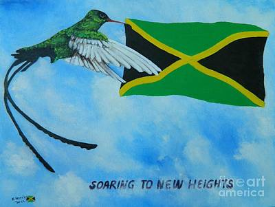 Jamaican Art Painting - Jamaica Soaring To New Heights by Kenneth Harris