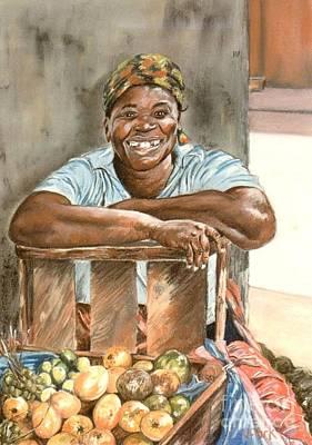 Jamaican Fruit Seller Print by John Clark