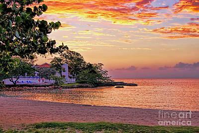 Jamaican Sunset Print by Olga Hamilton