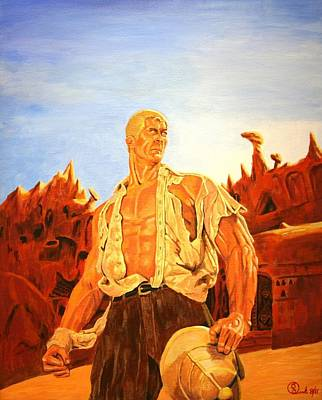Bama Painting - James Bama's The Man Of Bronze by Robert Link