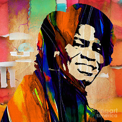 James Brown Collection Print by Marvin Blaine