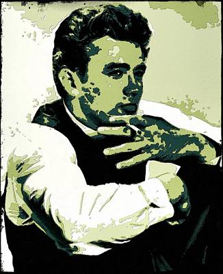 Rebel Painting - James Dean Poster Art by Florian Rodarte