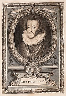 James I Print by Middle Temple Library