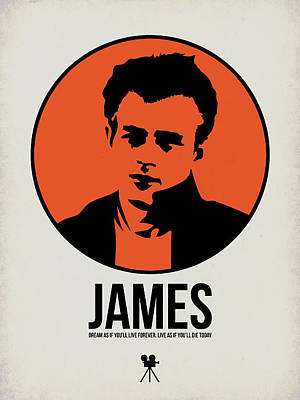 Actors Mixed Media - James Poster 1 by Naxart Studio
