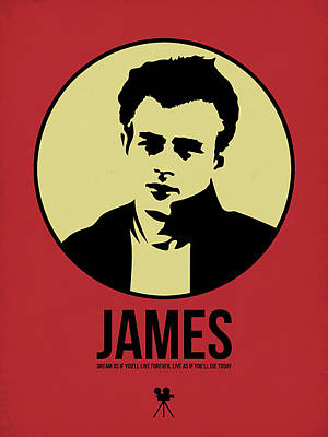 Actors Mixed Media - James Poster 2 by Naxart Studio