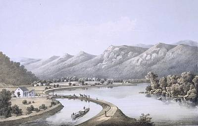 Mountain Drawing - James River Canal Near The Mouth by Edward Beyer