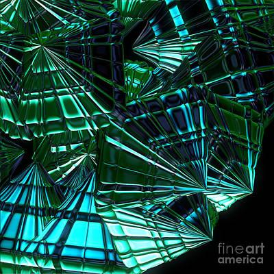 Jammer Swirling Emeralds  Print by First Star Art