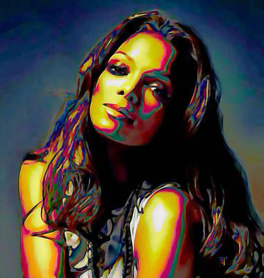 Janet Painting - Janet Jackson by  Fli Art