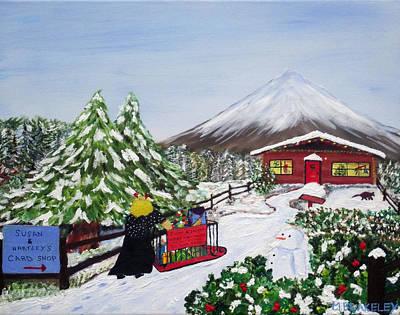 Janet's Winter Walk Print by Martin Blakeley