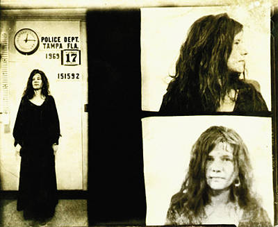 Rock Photograph - Janis Joplin Mugshot by Unknown