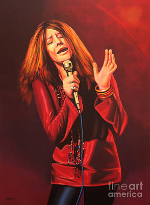 Janis Joplin Painting Print by Paul Meijering