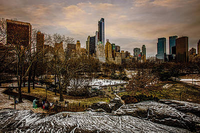January At Central Park South Print by Chris Lord