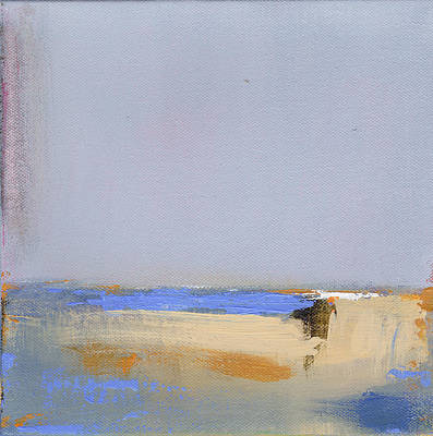 Abstracted Landscape Painting - January Harbor by Jacquie Gouveia