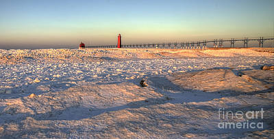 January In Grand Haven Print by Twenty Two North Photography