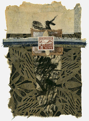 Torn Mixed Media - Japan 1943 Collage by Carol Leigh