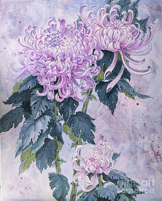 Japanese Chrysanthemum Series Part 1 Winter Original by Irina Effa