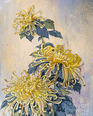 Japanese Chrysanthemum Series Part 2 Autumn Original by Irina Effa