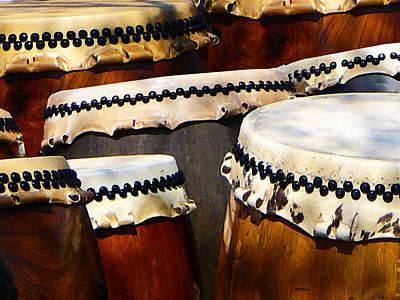 Japanese Drums Print by Susan Savad