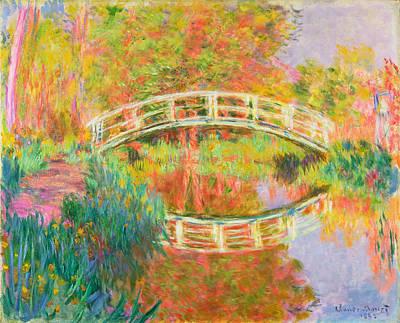 Footbridge Painting - Japanese Footbridge. Giverny by Claude Monet