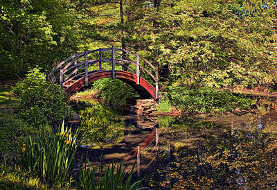 Bridges Photograph - Japanese Garden by Marcia Colelli