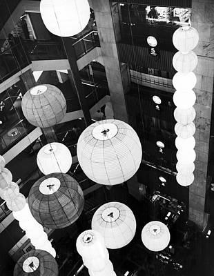 Paper Lantern Photograph - Japanese Lantern Display by Underwood Archives