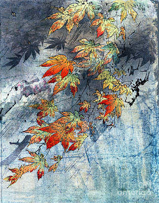 Nature Abstract Drawing - Japanese Maple by Carol Pietrantoni
