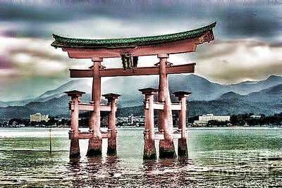 Japanese Torii Print by Lawrence Burry
