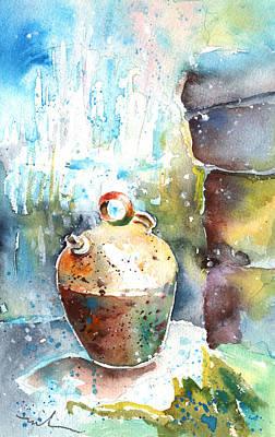 Water Jars Painting - Jar Under A Waterfall by Miki De Goodaboom