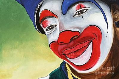 Klown Painting - Jason The Clown by Patty Vicknair