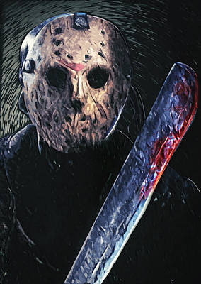 Hockey Digital Art - Jason Voorhees by Taylan Apukovska