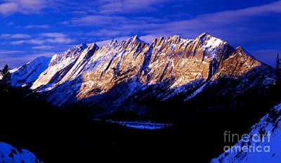 Canadian Rockies Photograph - Jasper - Colin Mountain Range In Winter Time by Terry Elniski