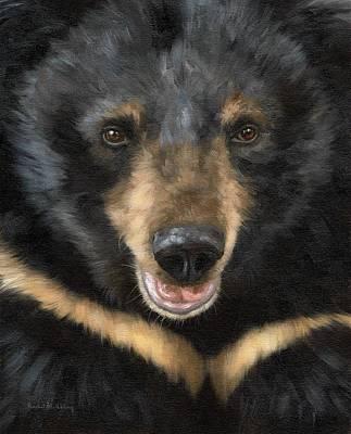 Jasper Moon Bear - In Support Of Animals Asia Print by Rachel Stribbling