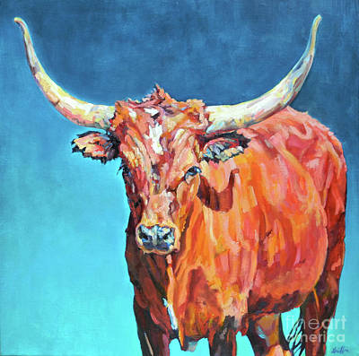 Steer Painting - Jasper by Patricia A Griffin