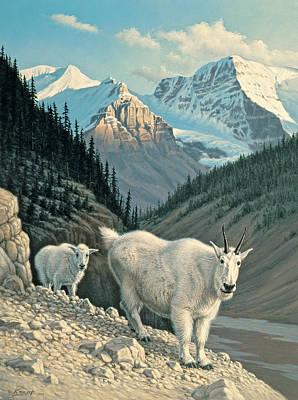 Jasper Painting - Jaspergoats by Paul Krapf