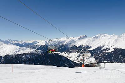 Jatz Jakobshorn Davos Mountains Piste Print by Andy Smy
