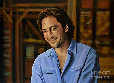 Barcelona Painting - Javier Bardem Painting by Paul Meijering