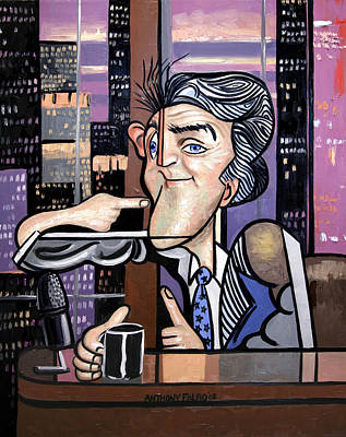 Greeting Digital Art - Jay Leno You Been Cubed by Anthony Falbo
