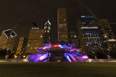 Outdoor Theater Photograph - Jay Pritzker Pavilion Chicago by Adam Romanowicz