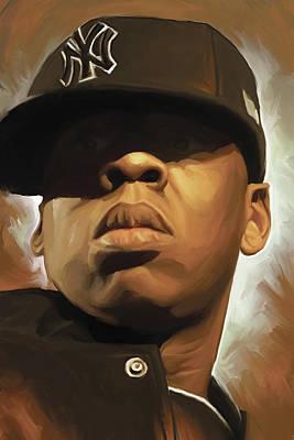 Jay-z Artwork Print by Sheraz A