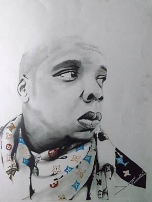 Jay Z Drawing - Jay-z by Joshua Robinson