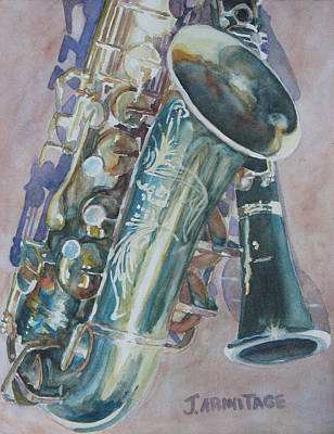 Duet Painting - Jazz Buddies by Jenny Armitage