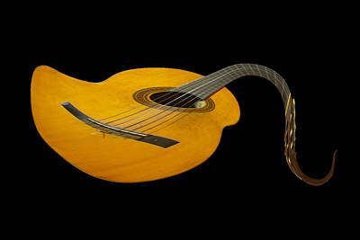 Ukulele Photograph - Jazz Guitar 2 by Debra and Dave Vanderlaan