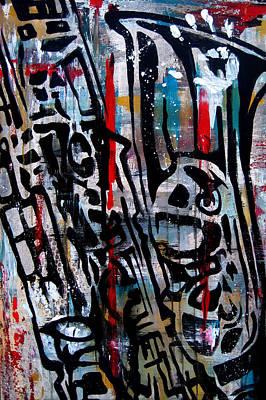 Abstract Pop Drawing - Jazz Hands By Fidostudio by Tom Fedro - Fidostudio